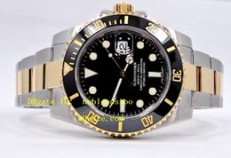 Wholesale Two Tone Luxury Watches - Mens Luxury Watches TWO TONE 18K YELLOW GOLD & SS BLACK CERAMIC BEZEL 116613LN 116613 Automatic Mens Men's Watch