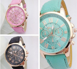 Wholesale tan belt for women - Gifts for women Geneva fashionable women set auger three-eyed steel band quartz watch belt watches double literally watches