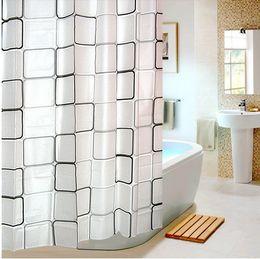 Wholesale Bedroom Partition - 180x180cm,180x200cm EVA shower curtains waterproof bathroom partition drapes bedroom purdah