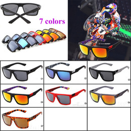 Wholesale Fox Sunglasses Men - 2016 New Sports Sunglasses Fox The Danx Hot Sale Driving Goggles Reflective Lenses Inside Temples Printing Sunglasses RYAN DUN Sunglasses