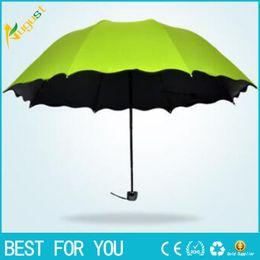 Wholesale Cheap Black Umbrellas - Male Female umbrella three Folding Rain Travele light Aluminium 5 color to select Women Men high quality cheap fashion umbrellas