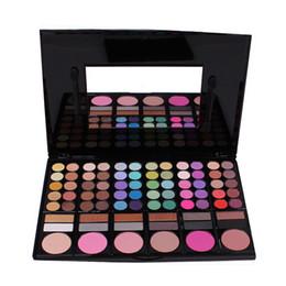 Wholesale Eyeshadow Makeup Palette 78 - Wholesale-Fashion 78 Colors Pro Eyeshadow Palette Makeup Powder Cosmetic Brush Kit Box With Mirror Women Make Up Tools Eye Shadow