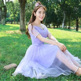 Wholesale Lilac Adult Dress - Long junior bridesmaid girl tulle lilac lace up back party dress girls cute dresses for juniors free shipping 2017