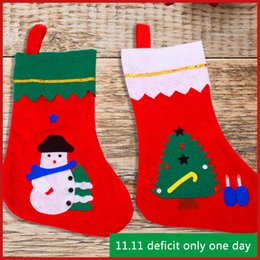 Wholesale Kids Cloth Cheap - 2018 christmas stockings cheap gift bag santa sacks hot selling newest kids candy bags christmas ornaments free shipping decoration