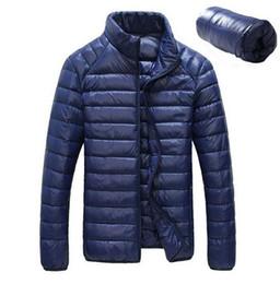 Wholesale Slim Down Jacket - Wholesale- Men's Winter Jacket Ultra Light 90% White Duck Down Jackets Casual Portable Winter Coat for Men Plus Size Down Parkas 7 Colors