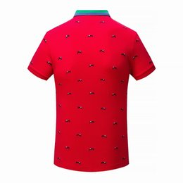 Wholesale Stand Collar Shirts Men - Mens branded cotton t shirt formal business polo t shirt embroidery luxury mens summer Lion clothing D20