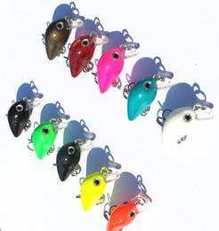 Wholesale Grass Carp - Mini Wobblers Fishing Lure Minnow Crank Bait 3cm 1.5g Tackle 10# Hooks Grass Carp Big Head Fish
