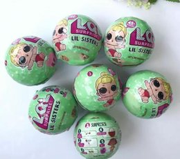 Wholesale Cartoon Baby Girls - lol surprise dolls 6pack LOL Lil Outrageous 7 Layers Surprise Ball Series 2 Doll Blind Mystery Ball