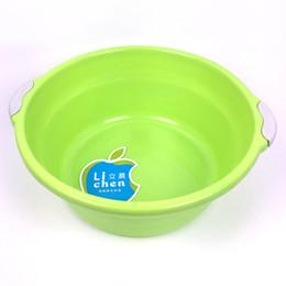 Wholesale Round Bowl Sink - Household Basin Medium Plastic Two Handles Wash Basin Gifts Printable LOGO Advertising Endurable Medium Laundry Basins
