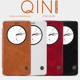 Wholesale Nillkin Case For Lg - Wholesale-Original Nillkin for LG G4 Quick Circle Case for LG G4 H810 H815 VS999 F500 H818 LS991 Flip Leather Cover Sleep Wake Phone Shell