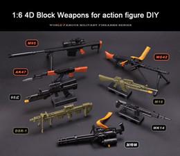 Wholesale Plastic Soldiers - (8pcs lot) Winstartoy 1 6 Cross Fire Soldier 4D Block Weapon AK47 MG42 M16 DSR-1 Gatlin for Action Figure DIY
