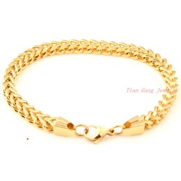 Wholesale Mens Figaro Chain Bracelet - New Charming 100% Biker Stainless Steel Gold Plated Figaro Chain Bracelet Mens Link Chain Bracelet Wholesale Retail