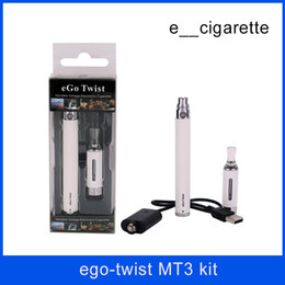 Wholesale Ego Twist Starter Kits - eGo-C Twist MT3 starter kit Adjustable battery E-cigarette evod atomizer Vapor tank Electronic cigarettes EGO-T blister case