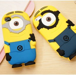 Wholesale Despicable Note - Soft Silicone Rubber Despicable Me Cartoon Case For iPhone SE 5 5S 4 4S 6 6S 6 Plus Samsung Galaxy Note 4 3 6Edge S6 S5 S4 DHL MOQ:100pcs