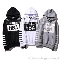 Wholesale Hba Hood Air Women - Hood By Air 48 HBA Hoodies Men Women Fashion Autumn Winter Warm Coats High Quality Brand Clothing Hip Hop Hooded Sweatshirts