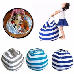 Wholesale Play Homes - Storage Stuffed Animal Storage Bean Bag Chair Portable Kids Toy Storage Bag Play Mat Clothes Home Organizer 30pcs OOA3748