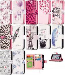 Wholesale Galaxy S4 Leopard Cases - For Samsung Galaxy S6 S7 EDGE S4 S5 NOTE 5 J5 G530 Multifunction Wallet Leather Case 9 Card Pouch Flower Leopard TPU Stand Photo Money Skin