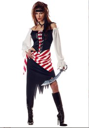 Wholesale Caribbean Party Games - Wholesale-New!Adult sexy Pirate Costumes Classic Pirates of the Caribbean Costume for Halloween Fantasia Cosplay Sexy party dress