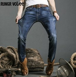 Wholesale Denim Overalls Sale - rungrvo lee Hot sale Men Jeans Male Casual Straight Denim Men's Jeans Slim denim overall Wholesale Brand Jeans Biker jeans