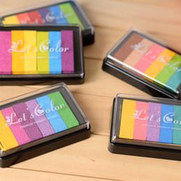 Canada Tampon encreur de couleur 6 dégradés pour timbre Kid Finger Peinture Scrapbooking Diary Décoration Offre