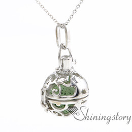 Wholesale Elephant Ball - ball elephant essential oil diffuser necklace wholesale diffuser lockets make your own oil diffuser locket pendant necklace openwork