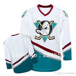 Wholesale hockey jerseys sizes - Mens 2016 Custom Ice Hockey Cheap Customized Mighty Ducks Of Anaheim Jersey 1996-06 White Green Your Name Your Number Any Size S-4XL