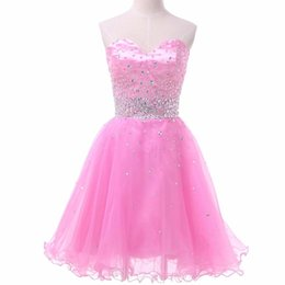 Wholesale Ball Banquet Dresses - Robe Pink Cocktail Dresses 2016 Lace Sequined Sexy Chiffon Backless Long Evening Dress Bride Banquet Elegant knee-length Party Prom Dress