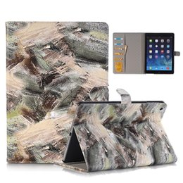 Wholesale Doodle Case - For iPad 2017 Colorful Doodle Pattern Folio Stand Wallet Case For iPad Mini 3 4 Air 2 Pro 9.7 12.9 OppBag