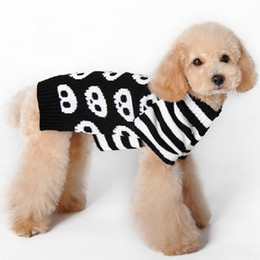 Wholesale Cheap Clothing For Dogs - Cheap wholesale pet clothes Halloween pet sweater The skeleton stripe sleeve clothes for dogs and cats Pet clothes