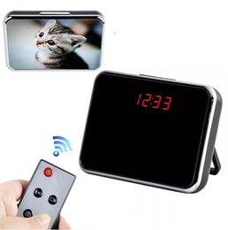 Wholesale Digital Clock Dvr - 32GB Spy Camera HD Digital Mirror Clock Style Hidden DVR with Motion Detection&Remote Control