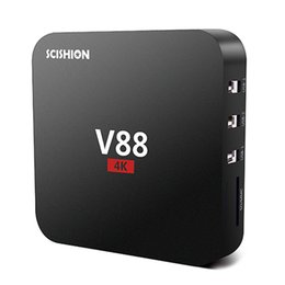 Wholesale Set Box Hdmi - V88 tv boxes Cheapest RK3229 Quad-Core 1GB+8GB Smart Tv WiFi DLNA 4K Android 5.1 Set-top Box streaming media player