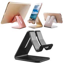 Подставка для мобильного телефона mini онлайн-Универсальный мобильный телефон планшет стол держатель роскошный алюминиевый металлический стенд для iPhone iPad мини Samsung смартфон таблетки ноутбук