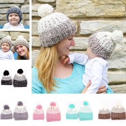 2018 cappelli da bambino per i neonati carino Autunno Inverno Madre Baby hat  neonato neonato Crochet e7bbb91b0125