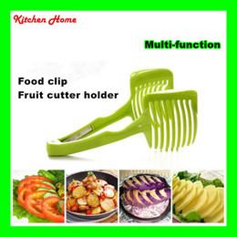Gemüse steht online-Multifuctional Tomaten Zitronenschneider Obstschneider Ständer Küche Obst Clip Lebensmittel Tong Obstschneider Gemüseschneider Shredder Werkzeuge