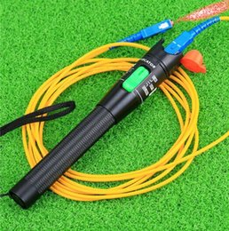 Wholesale Fault Locator - Hot New 30Mw 20-30Km Visual Fault Locator Fiber Optic Laser Cable Tester Test Equipment free shipping
