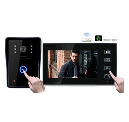 "Wholesale Video Door Phone Hands Free - 7"" TFT Wireless Video Door Phone Hands Free Visual Intercom Doorbell Photo Taking Touch Key"