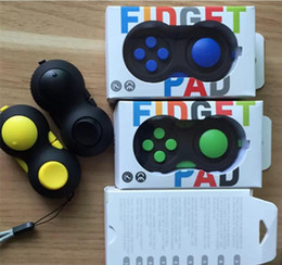 Wholesale Magic Pads Retail Packaging - 2017 NEW Game Handle Fidget Cube Anti Stress Gift Hand Puzzles & Magic Pad Finger Toys Decompression Spinner Controller With Package