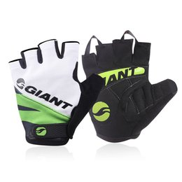 Wholesale Riding Mittens - New Style Half Finger Men Cycling Gloves Mitts Mitten Bicycle Bike Riding Driving Cycling Racing Guantes Ciclismo Factory Direct