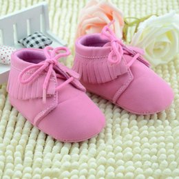Wholesale Elegant Toddler Girl Shoes - 2015 cute baby girls shoes elegant girls lace fringed boots fashion baby toddler shoes first walker A080812