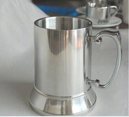 Boccale in acciaio inox a doppia parete 16OZ al minuto e all'ingrosso, boccale da birra in acciaio inossidabile da acciaio inox birra boccale fornitori