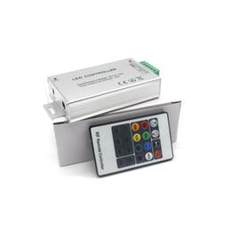 Wholesale Rgb Shell - Aluminum Shell LED Controller 20key 288W DC 12V-24V wireless RGB controller 5050 Led Strip remote control