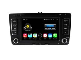 Wholesale Skoda Tv Din - Android 5.1 6.0 Car DVD Player For Skoda Octavia 2013 With Stereo Multimedia Radio GPS Map Wifi BT