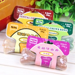Wholesale Dental Chews - 12pcs 4 Different Tastes Dog Smart Bones Dog Dental Chews Bone Natural Smart Bones Molar Bone For Dogs Chew Toys