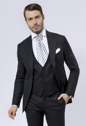 Wholesale Mens Red Wool Vest - Wholesale-Fashion Style One Button Black Groom Tuxedos Groomsmen Mens Wedding Suits Prom Bridegroom (Jacket+Pants+Vest+Tie) NO:635