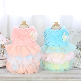 Wholesale Wear Sweater Dress - Princess Style Pet Products Pet Clothes Dog Apparel Puppy Coat Dog T-shirt Pet Costumes Wear Puppy Dress Skirt 15ZF75