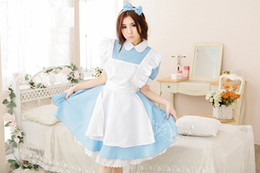 Wholesale Maid Service Anime - Free shipping COSPLAY Alice in Wonderland COS Japanese anime clothing Costumes Super cute Maid Maid service