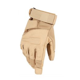 Wholesale Glove Blackhawk - Military Tactical Gloves Antiskid Outdoor Cover Finger Mittens Winter Thermal Men Fighting Leather Blackhawk Z-2410