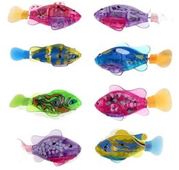 Wholesale Electronic Gifts Fish - Robo fish Water Activated Battery Powered RoboFish Toy Childen Kids Robotic Gift Bath Toys Electronic Fish ELT056