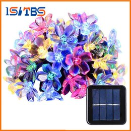 Wholesale Blossom Cards - Solar String Lights 50 Led Blossom Flower Fairy Light Christmas Lights for Outdoor LED Garland Patio Party Wedding Decoration