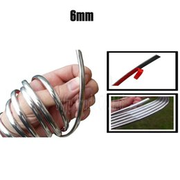 Wholesale Line Diy Decoration - New 4M x 6MM DIY Car Styling Chrome Moulding Trim Strip Silver Decoration Sticker